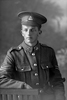 3/4 portrait of Corporal (later Sergeant) Charles Lindsay Bevins, Reg No 40434, Specialist Company, Signal Section, 24th reinforcements. (Photographer: Herman Schmidt, 1916). Sir George Grey Special Collections, Auckland Libraries, 31-B2387. No known copyright.