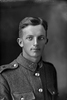 1/4 portrait of Corporal (later Sergeant) Charles Lindsay Bevins, Reg No 40434, Specialist Company, Signal Section, 24th reinforcements. (Photographer: Herman Schmidt, 1916). Sir George Grey Special Collections, Auckland Libraries, 31-B2388. No known copyright.