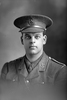 1/4 portrait of Lieutenant Geoffrey de Bohun Devereaux, Reg No 12/1190, of the 3rd (Auckland) Regiment, Auckland Infantry Battalion, 2nd Reinforcements. Later Major then Captain, awarded the Military Cross. Killed in action, France 1 Oct 1918. (Photographer: Herman Schmidt, 1915). Sir George Grey Special Collections, Auckland Libraries, 31-D389. No known copyright.