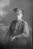 3/4 portrait of Private Thomas Brownlee Clark, Reg No 38349, of the Auckland Infantry Regiment, - A Company, 22nd Reinforcements. (Photographer: Herman Schmidt, 1917). Sir George Grey Special Collections, Auckland Libraries, 31-C2229. No known copyright.