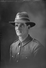 1/4 portrait of Private (later Corporal) Leonard Hipkins Clarke, Reg No 46117 of the 25th Reinforcements, E Company. Killed in action in France on the 25th or 26th of August 1918. (Photographer: Herman Schmidt, 1917). Sir George Grey Special Collections, Auckland Libraries, 31-C3068. No known copyright.