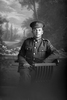 3/4 portrait of Private Percy Dye, Reg No 3/1767, of the New Zealand Medical Corps, No. 2 Field Ambulance. (Photographer: Herman Schmidt, 1916). Sir George Grey Special Collections, Auckland Libraries, 31-D1535. No known copyright.