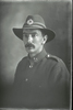 1/4 portrait of Private John Stanley Daubeny, Reg No 52387, of the 27th Reinforcements, E Company. (Photographer: Herman Schmidt, 1917). Sir George Grey Special Collections, Auckland Libraries, 31-D3080. No known copyright.