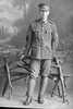 Full length portrait of Sergeant Thomas Manus McGeehan, Reg No 12/589, of the Auckland Infantry Battalion, Main Body. (Photographer: Herman Schmidt, 1914). Sir George Grey Special Collections, Auckland Libraries, 31-G467. No known copyright.