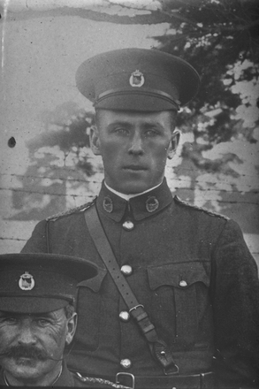 Copy neg of portrait of Logan of the Auckland Mounted Rifles, New Zealand Mounted Rifles. (Photographer: Herman Schmidt, 1915|1916). Sir George Grey Special Collections, Auckland Libraries, 31-L724. No known copyright.
