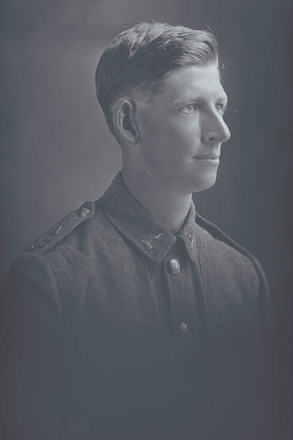 1/4 portrait of Private Archibald Noble, Reg No 38435, of the 6th (Hauraki) Regiment, Auckland Infantry Regiment, - A Company, 22nd Reinforcements, killed in action in France on 23 August 1917 at the Battle of Ypres. (Photographer: Herman Schmidt, 1916|1917). Sir George Grey Special Collections, Auckland Libraries, 31-N2874. No known copyright.