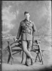 Full length portrait of Trooper Charles Manfred Rope, Reg No 13/432, of the 4th (Waikato) Mounted Rifles, Auckland Mounted Rifles, New Zealand Mounted Rifles, Main Body. Later Corporal. Died of wounds in Egypt 9 January 1917. (Photographer: Herman Schmidt, 1914). Sir George Grey Special Collections, Auckland Libraries, 31-R988. No known copyright.