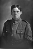 1/4 portrait of Sergeant Savage, probably Sergeant Charles Savage, Reg No 16/888, of the 2nd Maori Contingent, New Zealand Maori Pioneer Battalion. Killed in action in France on 21 June 1917. (Photographer: Herman Schmidt, 1915). Sir George Grey Special Collections, Auckland Libraries, 31-S1000. No known copyright.