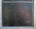 Roll of honour, Korean War Memorial 1950-53, Dove-Meyer Robinson Park, Parnell, Auckland. Names: ALLNATT Edward William (name incorrectly spelt as 'Allanatt' on memorial), BAILEY Allwyn , BERRY Peter Rex, BURBUROUGH John Ewing, CARSON Ramon Deane, CLARK Ivo Raymond, COMPTON Robert Edward, COOK Gordon Brian, COOPER Leslie John, COOPER William Henry, DICKSON Wallace Bruce, FIELDEN Dennis Siddall, FRITH Mervyn Frederick, GRIFFITHS Eric James, HUMM Herbert Lester, JACKSON Donald Cameron, LONG Richard George, MacDONALD Ronald, McDONALD Ray, McLAUGHLIN Edward Michael Noel, McRAE John, MARCHIONI Robert Edward, MAY Arthur, MOLLINSON Peter James, MORTIMER Raymond Herbert, MURRAY Lyn, NGATAI Dickson, O'NEIL Thomas Mervyn, PERCIVAL Frank Osmond, POYNTON Frederick Terence, REID Reginald James, RODGERS Douglas Neville, SCAHILL James Martin Conrad, SHORTLAND Joseph, TAIATINI Thomas Te Hau, TAYLOR Colin Franklin, UNSWORTH Robert James, VUGLER Cedric John, WAITAPU Dennis, WATSON Jefford Rex, WHANGAPIRITA Bruce, WICKSTEED Barton, PARKER (WILLIAMS) Frederick William. Image © Auckland Museum CC BY.