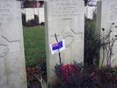 Headstone, Queens Cemetery, Bucquoy, Pas-de-Calais, France, Andrew Scott (47768). No Known Copyright.