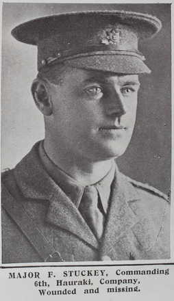 Image of Major Frederick Stuckey (12/2) from the Weekly News. Kindly provided by Onward Project, Phil Beattie & Matt Pomeroy. Kindly provided by Onward Project, Phil Beattie & Matt Pomeroy. No Known Copyright.