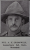 Image of Private Albert Edward Creswell (6/1500) from the Weekly News 1915. Kindly provided by Onward Project, Phil Beattie & Matt Pomeroy. Kindly provided by Onward Project, Phil Beattie & Matt Pomeroy. No Known Copyright.