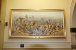 The battle of Chunuk Bair, 8 August 1915, by Major Ion George Brown. Parliament House first-floor main foyer, Wellington, New Zealand.  Image of items from the Parliamentary Collection taken with kind permission of The Speaker of the New Zealand Parliament 2014. All rights reserved.