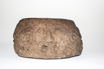 carved stone lamp. decorated on exterior with spir...