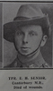 Portrait, Trooper Edwin Hugh Senior (7/394) from the Weekly News 1915. Kindly provided by Onward Project, Phil Beattie & Matt Pomeroy. No known copyright restrictions.