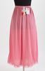 half slip, dusky rose pink, mid calf length, lace ...