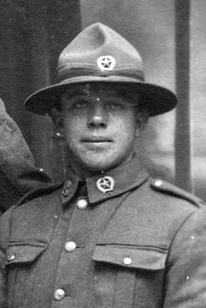 Portrait of Private Alan Holz (39534). Image provided by Gary A Holz. Image has no known copyright restrictions.