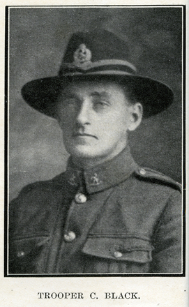 Portrait of C. Black. Auckland Grammar School chronicle. 1918, v.6, n.1. Image has no known copyright restrictions.
