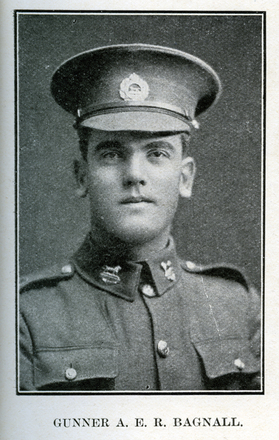 Portrait of A. E. R. Bagnall. Auckland Grammar School chronicle. 1918, v.6, n.2. Image has no known copyright restrictions.