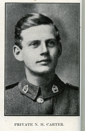 Portrait of H. N. Carter. Auckland Grammar School chronicle. 1918, v.6, n.2. Image has no known copyright restrictions.