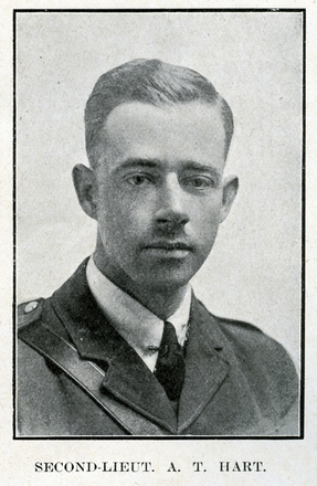 Portrait of A. T. Hart. Auckland Grammar School chronicle. 1918, v.6, n.2. Image has no known copyright restrictions.