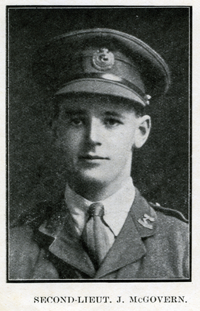 Portrait of J. McGovern. Auckland Grammar School chronicle. 1918, v.6, n.2. Image has no known copyright restrictions.