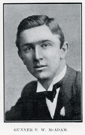 Portrait of R. W. McAdam. Auckland Grammar School chronicle. 1918, v.7, n.1. Image has no known copyright restrictions.