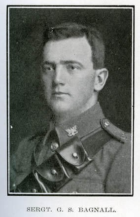 Portrait of G. S. Bagnall. Auckland Grammar School chronicle. 1918, v.7, n.2. Image has no known copyright restrictions.
