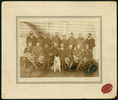 "Ohura Legion of Frontiersmen. c1912-1914. Handwritten in ballpoint pen on verso ""Sidney James Goodyear/ Front row, first left. Ohura Legion of Frontiersmen?/ 1912-1914?"". Goodyear, Sidney James. Auckland War Memorial Museum Library. PH-2007-4-2. Image has no known copyright restrictions."