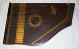 zither, boxed instrument, trapezoid shape, painted...
