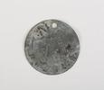 Zinc identity tag, WW1 Belonged to Arthur J W Page...