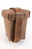 leather ammunition pouch, German cheap ersatz manu...