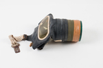 civilian respirator (gas mask), carton and instruc...