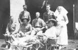 Sister Pounds, Sparrow, Latter, Capt. ?, Hodges. E.G.W. Ras El Tin. 10.4.17 Williams, E. G. (1914-1918). [Williams Album 3]. Auckland War Memorial Museum - Tamaki Paenga Hira. PH-ALB-212. Page No : 50 No: 1 Item No : 134. Image has no known copyright restrictions.