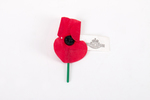 ANZAC poppy badge (NZRSA), paper petals attached t...
