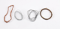 coil of wire (4) four coils of wire; copper & stee...