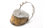 Souvenir inkwell made from a horse's hoof, WW1 Bel...