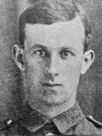 Portrait of Private Timothy Joseph O'Leary (15017). Image kindly provided by Marlborough memorial project (2009). Image has no known copyright restrictions.