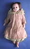 doll, locality: New Zealand. pink wax doll with s...
