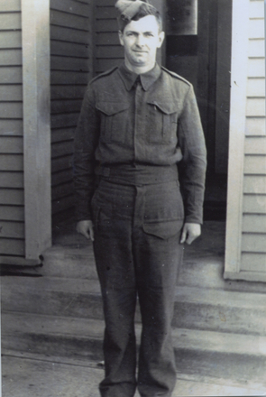 Full length portrait of Leslie Harris Brough. Image kindly provided by Tom Brough. Image may be subject to copyright restrictions.