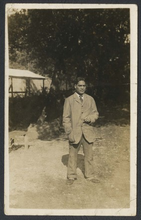 Portrait of Wiremu Karati. Swarbrick, Margaret. Miscellaneous papers, 1914 - 1947. Auckland War Memorial Museum Library. MS-1468. Image has no known copyrigh restrictions.
