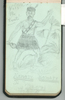 """Pencil Drawing """"Ka mate ka mate"""" by Wiremu Karati. Swarbrick, Margaret. Miscellaneous papers, 1914 - 1947. Auckland War Memorial Museum Library. MS-1468. Image has no known copyright restrictions."""