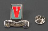 EVSA lservice award apel pin  large red enameled l...