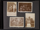 """""""With Bruce (Tin Town Mascot)""""; """"Spoiling the Boys""""; """"Sister Utting, Hewson - Sister Wise. Digger Hotere, Wilson, Gray, Catchpole & me""""; """"Peggy and Joe"""". Image kindly provided by Kawharu family. Image has no known copyright restrictions."""