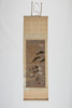 scroll painting depicting an armoured warrior on h...
