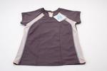 Grey and pink woman's sports t-shirt, mesh panels,...