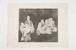 four etchings one depicts elaborate dwellings near...