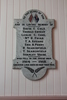 Roll of Honour WW1 Panel, Onehunga Parish Church. Image provided by John Halpin 2014, CC BY John Halpin 2014