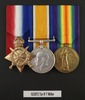 Medals of Trooper Trooper Robert Thompson Miller 13/2573. From left to right: 1914-1915 Star; British War Medal; Victory Medal. Image kindly provided by Sarah Simpson (March 2017). Image has no known copyright restrictions.