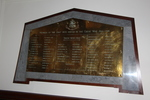 Wellington Harbour Great War Honours Board. Image provided by John Halpin, 2015, CC By John Halpin 2015.